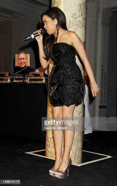Dionne Bromfield performs at Jonathan Shalit's 50th birthday party at The VA on April 17 2012 in London England