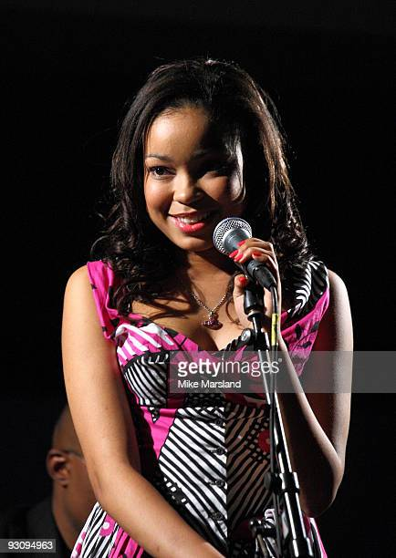 Dionne Bromfield performs at the Anglomania show by Vivienne Westwood at Selfridges on November 16 2009 in London England