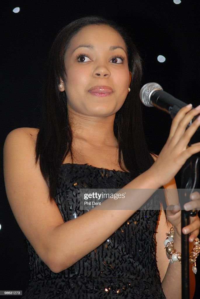 Dionne Bromfield performs on stage at the Dorchester on March 13th 2010 in London.