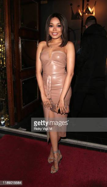 Dionne Bromfield seen attending Style for Stroke Foundation The Fall Ball at Café de Paris on November 20 2019 in London England