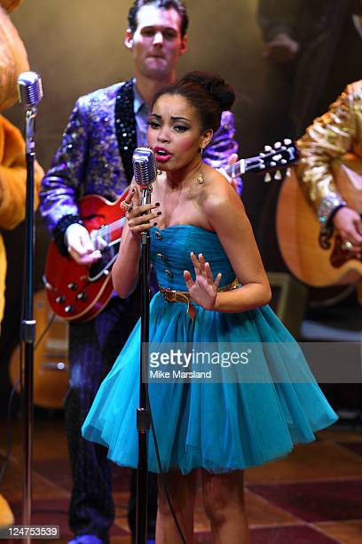 Dionne Bromfield takes to the stage at musical Million Dollar Quartet in aid of BBC Children in Need POP Goes the Musical at Noel Coward Theatre on...