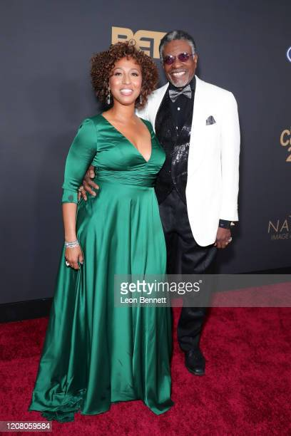 Dionne Lea Williams and Keith David attend the 51st NAACP Image Awards Presented by BET at Pasadena Civic Auditorium on February 22 2020 in Pasadena...