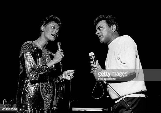 Dionne Warrick and Johnny Mathis perform at The Fox Theater in Atlanta Georgia January 13 1986