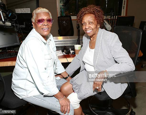 Dionne Warwick and Cissy Houston visit at SiriusXM Studios on August 6 2013 in New York City