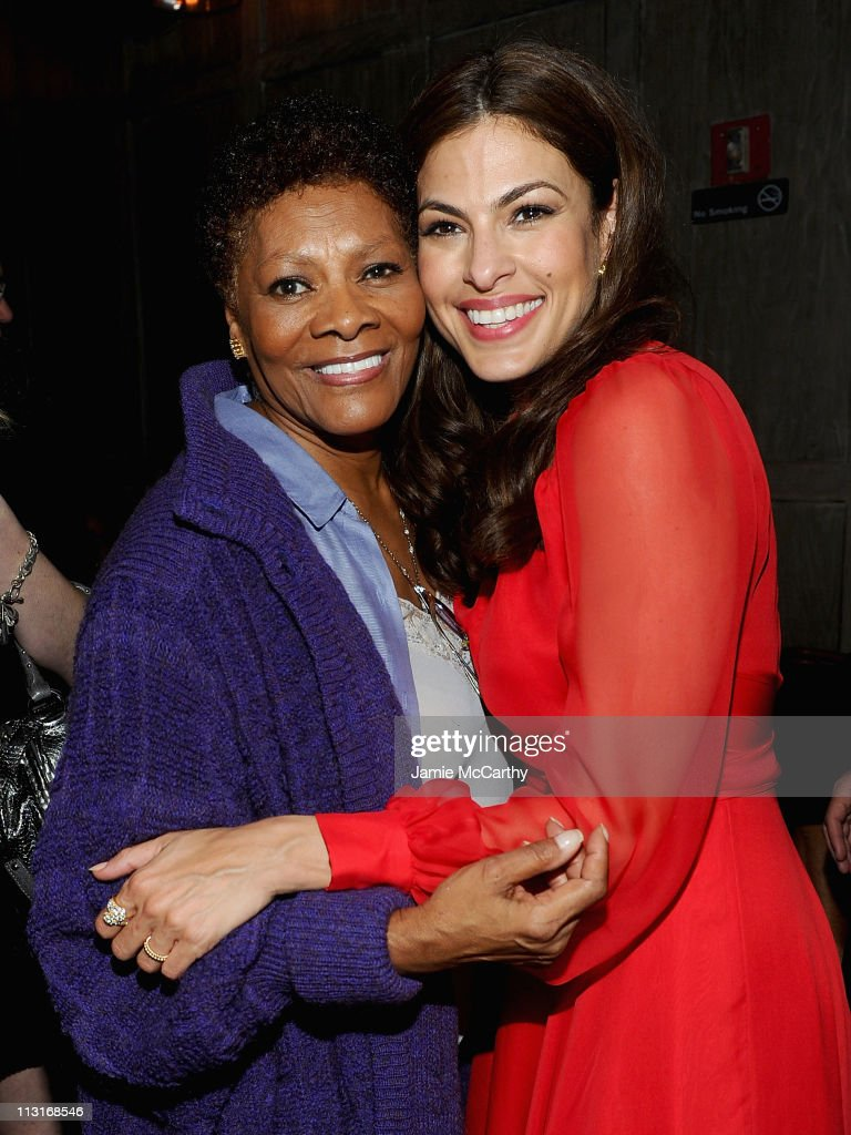 Dionne Warwick and Eva Mendes attend the after party for the Tribeca Film Festival and Cinema Society premiere of 'Last Night' at Avenue on April 25, 2011 in New York City.