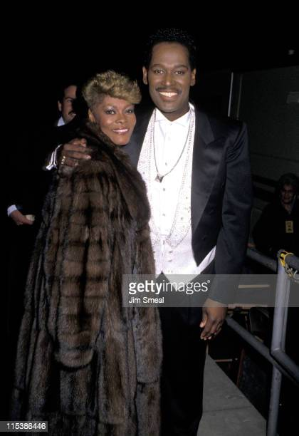 Dionne Warwick and Luther Vandross during 4th Soul Train Music Awards at Shrine Auditorium in Los Angeles California United States