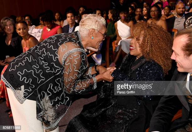 Dionne Warwick and Roberta Flack attend Black Girls Rock 2017 backstage at NJPAC on August 5 2017 in Newark New Jersey