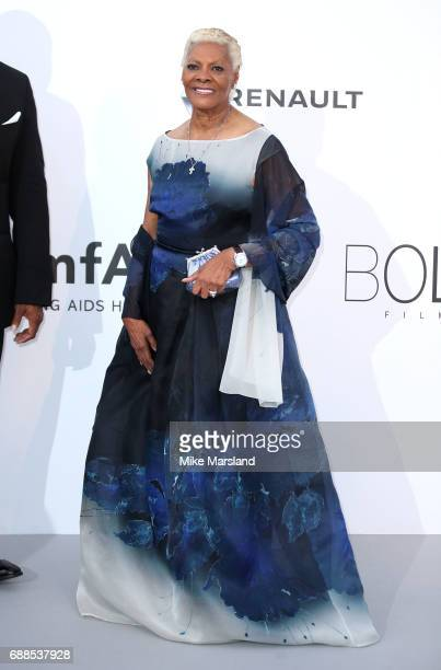 Dionne Warwick arrives at the amfAR Gala Cannes 2017 at Hotel du CapEdenRoc on May 25 2017 in Cap d'Antibes France
