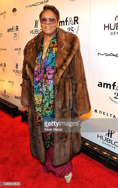 Dionne Warwick attends the amfAR New York Gala to kick off Fall 2011 Fashion Week at Cipriani Wall Street on February 9 2011 in New York City