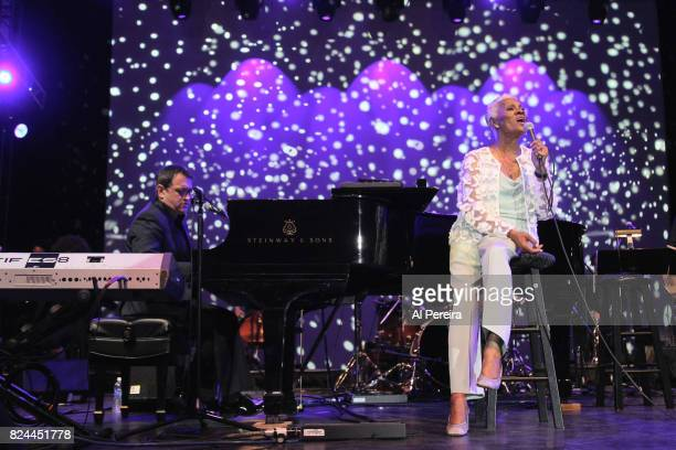 Dionne Warwick performs during 'Lincoln Center Out Of Doors An Evening With Rumer' at Damrosch Park Lincoln Center on July 29 2017 in New York City