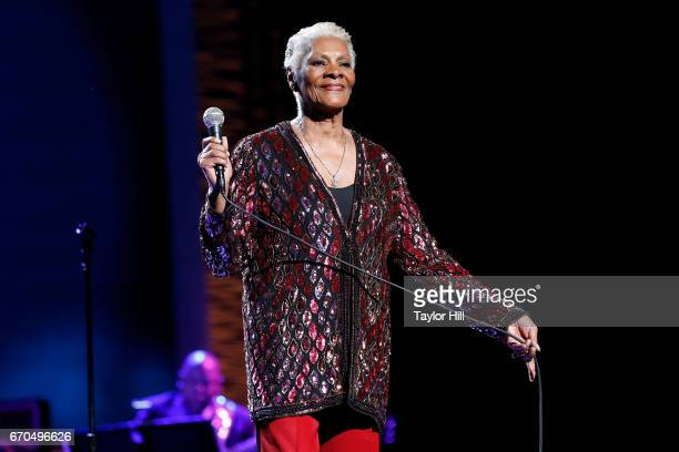 Dionne Warwick performs during the 2017 Tribeca Film Festival Opening Gala premiere of Clive Davis The Soundtrack of our Lives at Radio City Music...