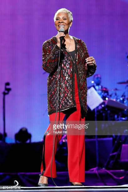 Dionne Warwick performs during the 2017 Tribeca Film Festival Opening Gala premiere of 'Clive Davis The Soundtrack of our Lives' at Radio City Music...