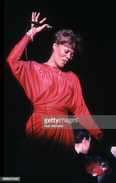 Dionne Warwick performs on stage Congresgebouw Den Haag Netherlands 1st May 1983