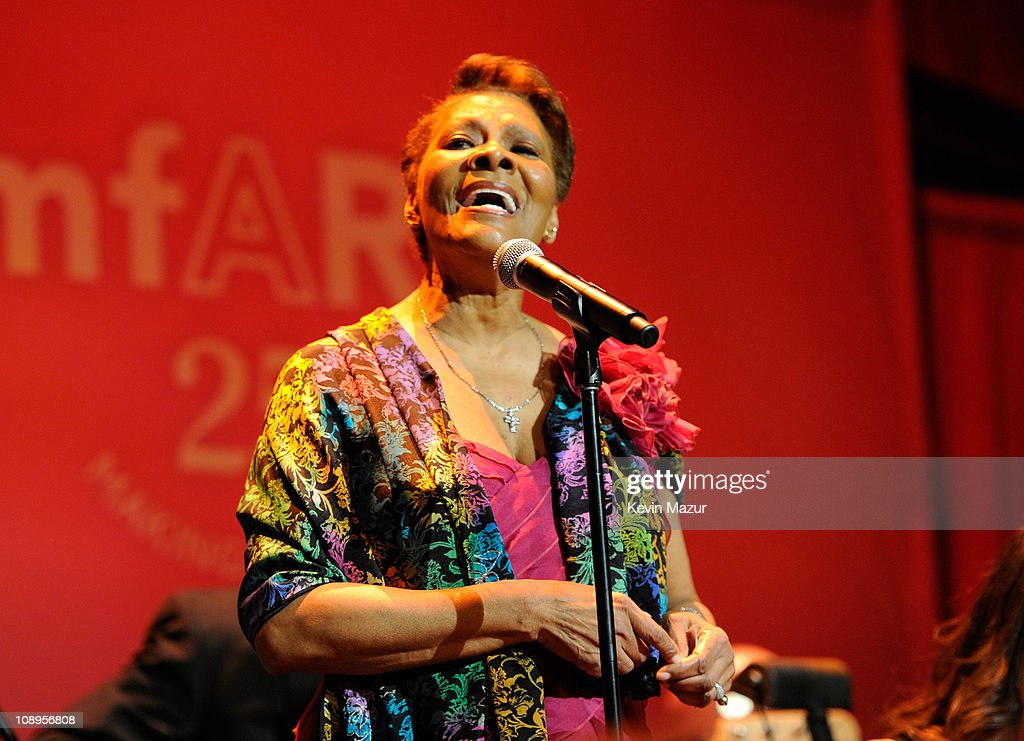 Dionne Warwick performs onstage at the amfAR New York Gala to kick off Fall 2011 Fashion Week at Cipriani Wall Street on February 9, 2011 in New York City.