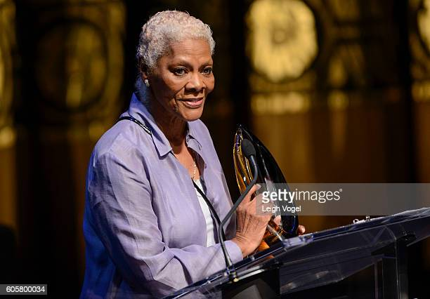 Dionne Warwick receives a Lifetime Achievement Award during the Congressional Black Caucus' 20th Annual Celebration of Leadership in the Fine Arts at...