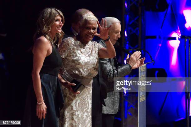 Dionne Warwick receives the Marian Anderson Award at a ceremony at the Kimmel Center in Philadelphia PA on November 14 2017