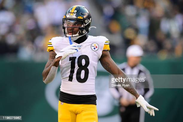 Diontae Johnson of the Pittsburgh Steelers in action against the New York Jets at MetLife Stadium on December 22, 2019 in East Rutherford, New Jersey.