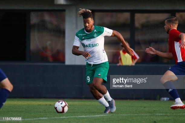Diony Lois of Saint Etienne during the Friendly match between Andrezieux and Saint Etienne at L'Envol Stadium on July 9, 2019 in Andrezieux-Boutheon,...