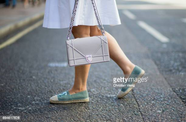 Dior bag during the London Fashion Week Men's June 2017 collections on June 10 2017 in London England