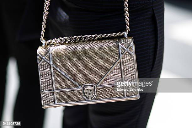 Dior bag is seen, after the Dior show, during Paris Fashion Week Menswear Spring/summer 2017, on June 25, 2016 in Paris, France.
