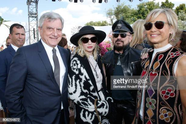 Dior CEO Sidney Toledano, actors Jennifer Lawrence, Peter Marino and Helene Arnault attend the Christian Dior Haute Couture Fall/Winter 2017-2018...