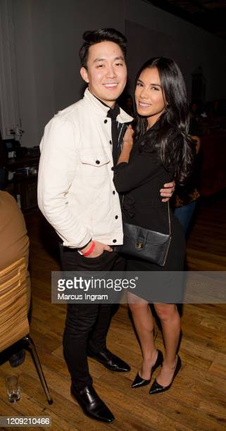 Dior Choi and Rosa Sanchez attend the Netflix's Love is Blind VIP viewing party at City Winery on February 27 2020 in Atlanta Georgia