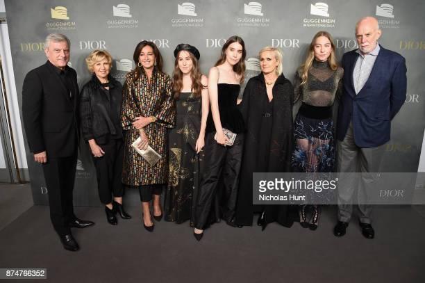 Dior Couture CEO Sidney Toledano Wendy Fisher Katia Toledano Alana Haim Danielle Haim Maria Grazia Chiuri Este Haim and Richard Armstrong attend the...