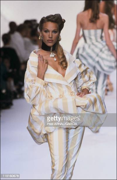 Dior Haute Couture Fall Winter 9293 show in France in October 1992 Emma Sjoberg