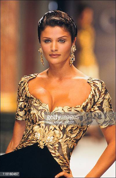 Dior Haute Couture Fall Winter 93-94 in France in January, 1993 - Helena Christensen.