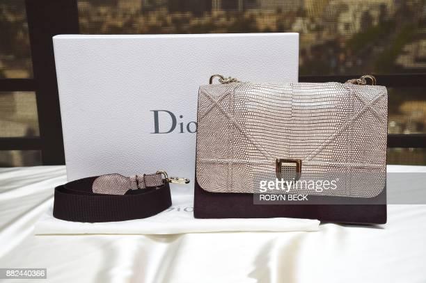 Dior Limited Edition Beige Lizard & Amaranth Pony-Effect Calfskin Diorama Satchel Bag, estimated at USD $8,000-$10 November 29, 2017 at a media...