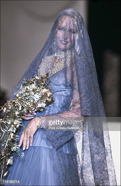 Dior Ready to Wear Fall Winter 9394 show in France in March 1993 Estelle Hallyday