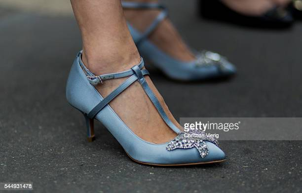 Dior shoes outside Dior during Paris Fashion Week Haute Couture F/W 2016/2017 on July 4 2016 in Paris France