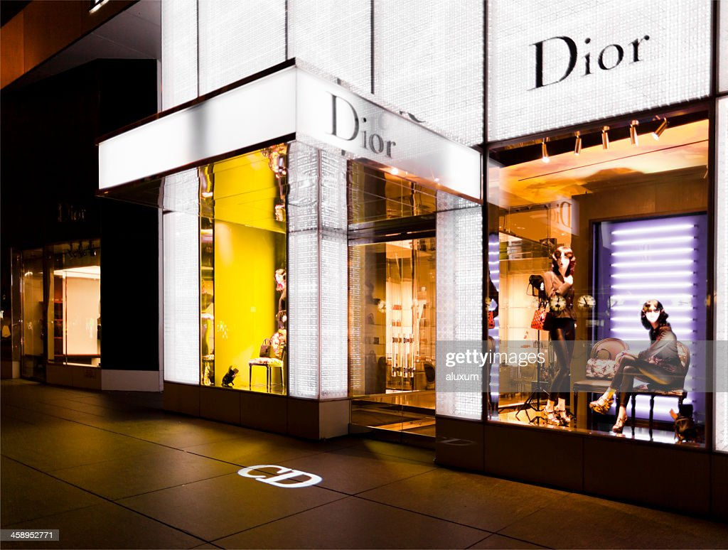 Dior shop in New York : Stock Photo