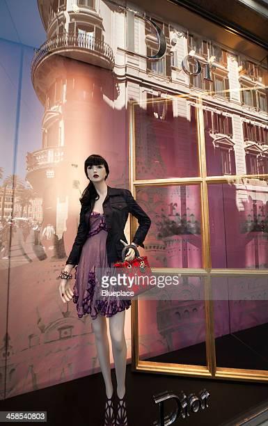 Dior, shop window, Rome, Italy
