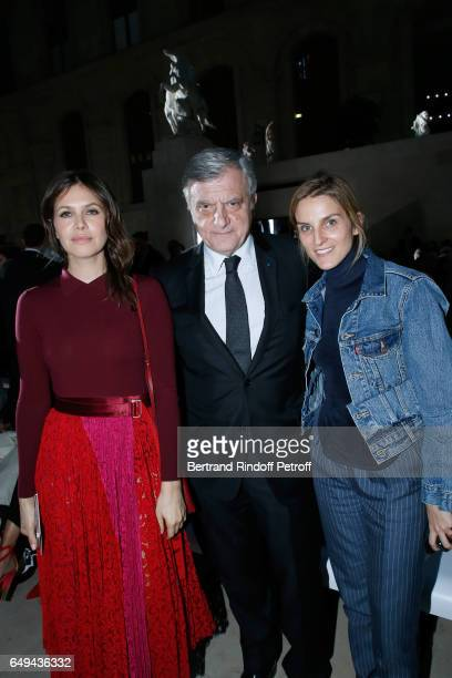 Dior Sidney Toledano and Gaia Repossi attend the Louis Vuitton show as part of the Paris Fashion Week Womenswear Fall/Winter 2017/2018 on March 7,...