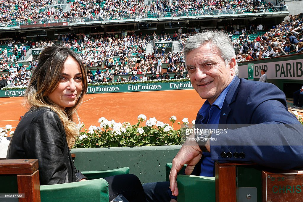 Dior Sidney Toledano (R) and his daughter Julia Toledano attend Roland Garros Tennis French Open 2013 - Day 8 on June 2, 2013 in Paris, France.