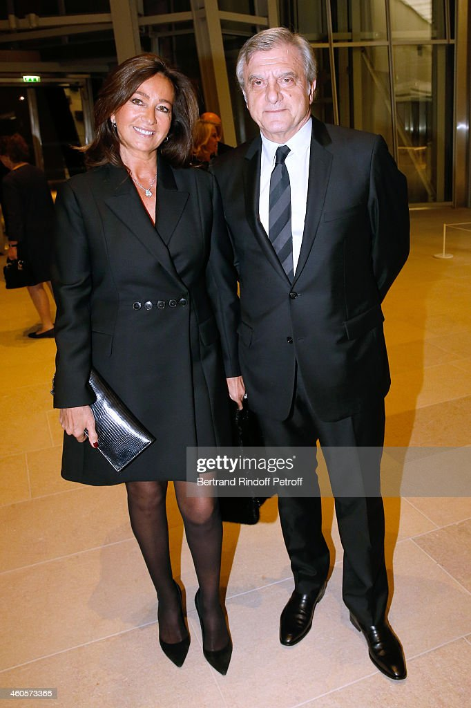 Dior Sidney Toledano and his wife Katia attend the 'Fondation Claude Pompidou' : Charity Party at Fondation Louis Vuitton on December 16, 2014 in Paris, France.