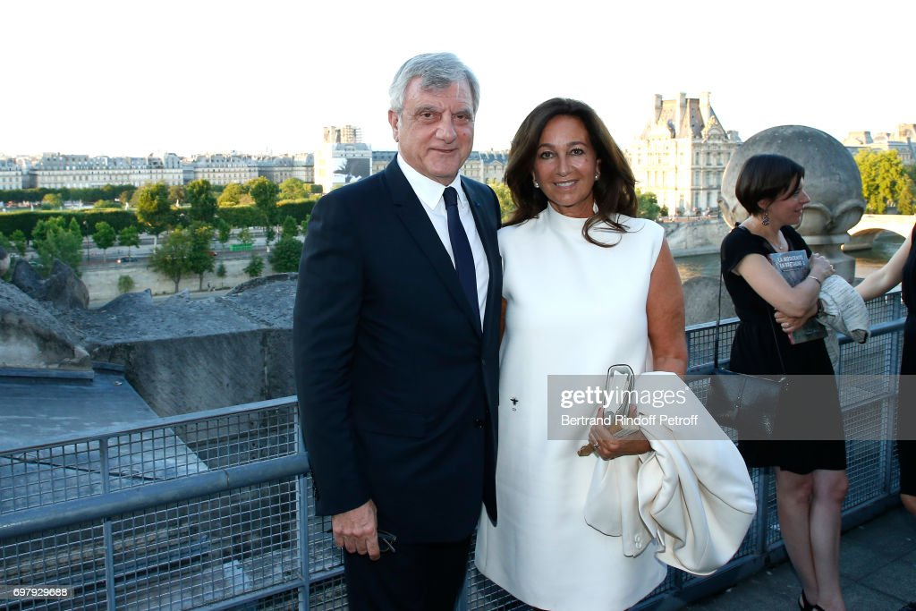 Dior, Sidney Toledano and his wife Katia attend the 'Societe ses Amis du Musee d'Orsay' : Dinner Party at Musee d'Orsay on June 19, 2017 in Paris, France.