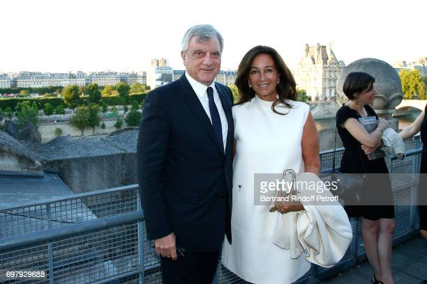 "Dior, Sidney Toledano and his wife Katia attend the ""Societe ses Amis du Musee d'Orsay"" : Dinner Party at Musee d'Orsay on June 19, 2017 in Paris,..."