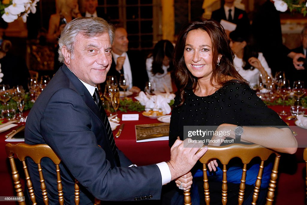 Dior Sidney Toledano and his wife Katia Toledano attend Pasteur-Weizmann Gala at Chateau de Versailles on November 18, 2013 in Versailles, France.