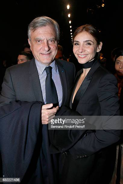 Dior Sidney Toledano and Princess of Savoy, Clotilde Courau attend the Berluti Menswear Fall/Winter 2017-2018 show as part of Paris Fashion Week on...