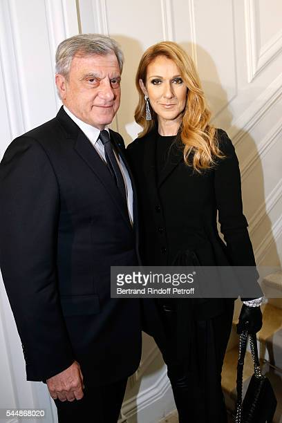 CEO Dior Sidney Toledano and signer Celine Dion attend the Christian Dior Haute Couture Fall/Winter 20162017 show as part of Paris Fashion Week on...