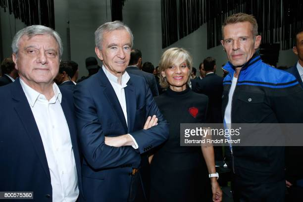 CEO Dior Sidney Toledano Owner of LVMH Luxury Group Bernard Arnault his wife Helene MercierArnault and actor Lambert Wilson attend the Dior Homme...