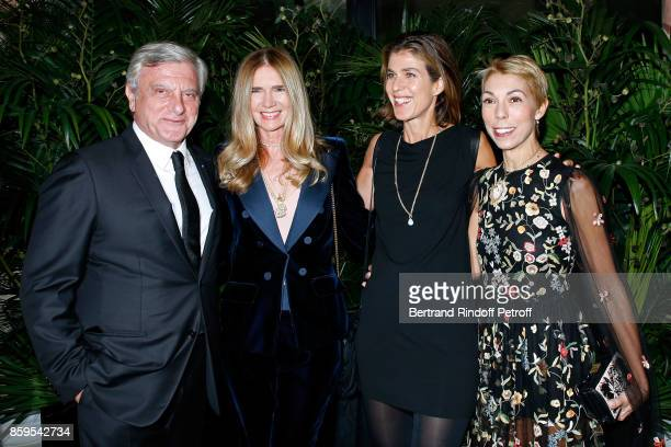 CEO Dior Sidney Toledano Sophie Agon Vanessa Van Zuylen and Mathilde Favier attend the 'Diner des Amis de Care' at Hotel Peninsula Paris on October 9...