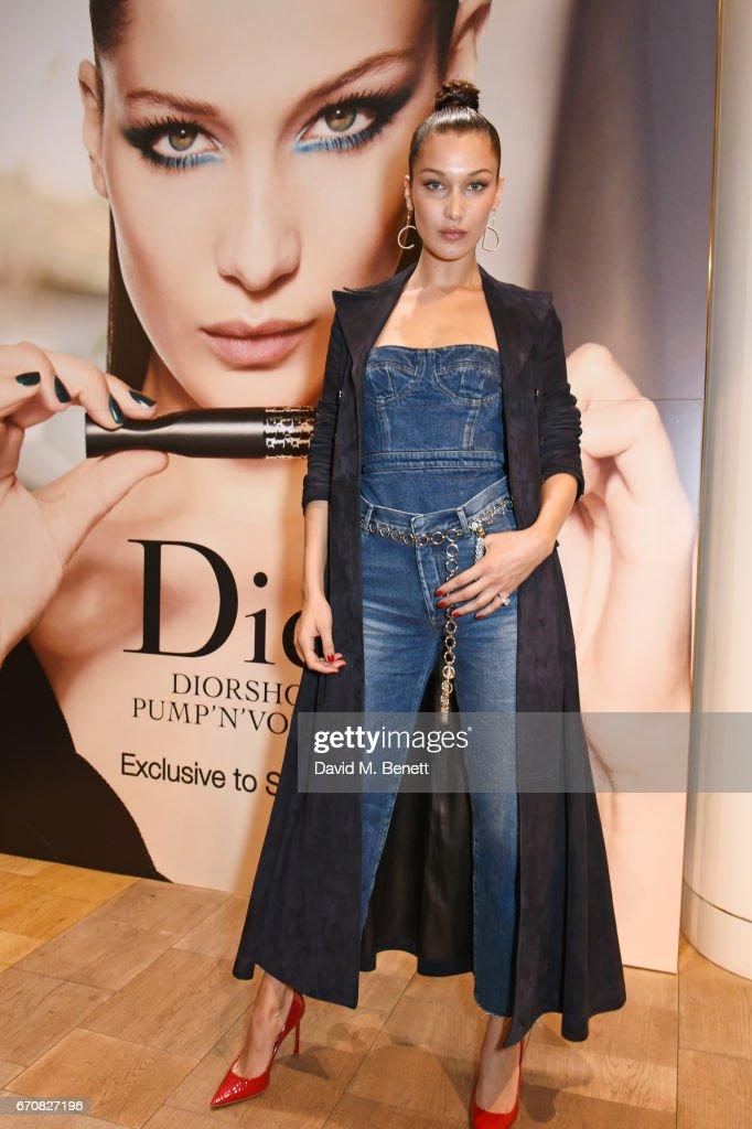 Bella Hadid Launches Dior Pump 'N' Volume Mascara : News Photo