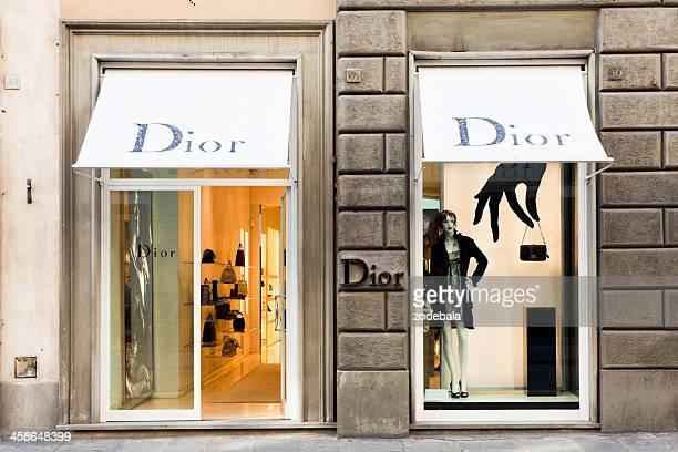dior loja em florença, itália - marca de designer - fotografias e filmes do acervo