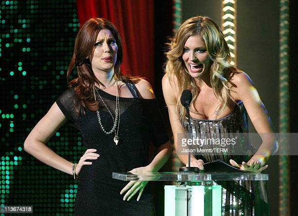 Diora Baird and Tricia Helfer during Spike TV's Scream Awards 2006 Show at Pantages Theater in Hollywood California United States
