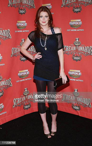 Diora Baird during Spike TV's Scream Awards 2006 Arrivals at Pantages Theater in Hollywood California United States