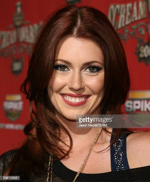 Diora Baird during Spike TV's Scream Awards 2006 Red Carpet at Pantages Theater in Hollywood California United States