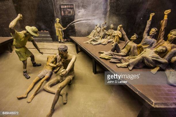Diorama at Hoa Loa, Hanoi Hilton Prison - Hoa Loa Prison was originally used by the French colonial system to detain what they considered to be...